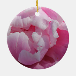 Rosa Pfingstrosen-Sommer-Garten mit Blumen Keramik Ornament