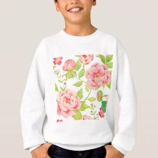 rosa Pfingstrosenmuster des Aquarells Sweatshirt