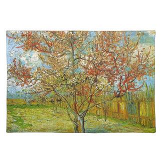 Rosa Pfirsich-Baum in der Blüten-Erinnerung der Tischset