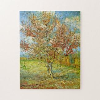 Rosa Pfirsich-Baum Van Gogh in der Blüte, schöne Puzzle