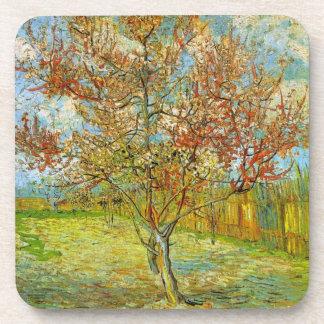 Rosa Pfirsich-Baum Van Gogh in der Blüte, schöne Untersetzer