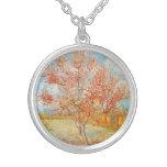 Rosa Pfirsich-Baum Van Gogh in der Blüten-Halskett Halskette