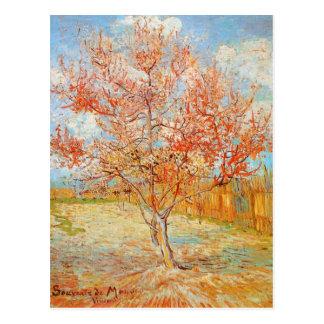 Rosa Pfirsich-Baum Van Gogh in der Postkarte