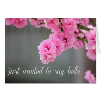 Rosa Pfirsich-Blüten - gerade gewollt, um zu sagen Karte