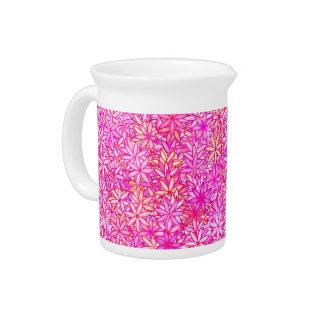 Rosa-, Pfirsich-, Orchideen- und Korallen-Blumen Krug