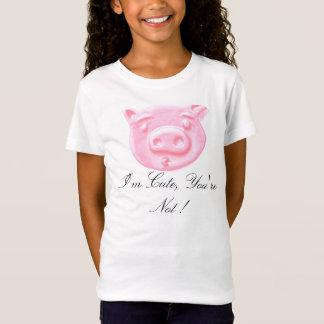 Rosa Piggy Sprichwort T-Shirt