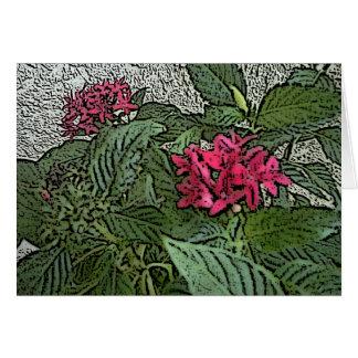 Rosa Pinta Blume Notecard Grußkarte
