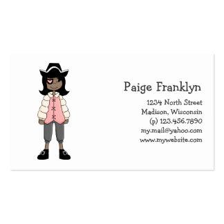 Rosa Piraten · Piraten-Mädchen #3 Visitenkarte