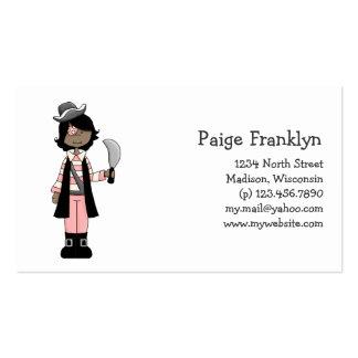 Rosa Piraten · Piraten-Mädchen #5 Visitenkarten Vorlage
