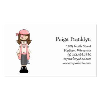 Rosa Piraten · Piraten-Mädchen #8 Visitenkarte