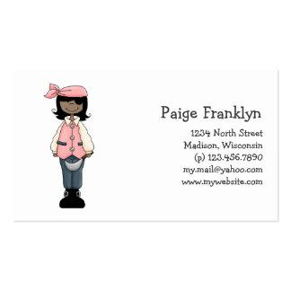 Rosa Piraten · Piraten-Mädchen 9 Visitenkarte