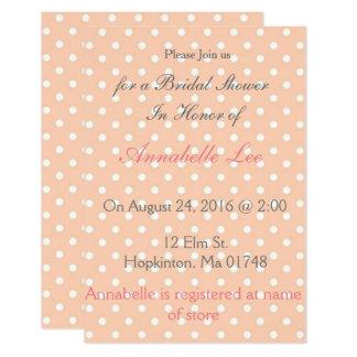 Rosa Polka-Punkt Brautparty-Einladungen Karte