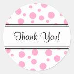 Rosa Polka Punkt-Danken Ihnen Sticker