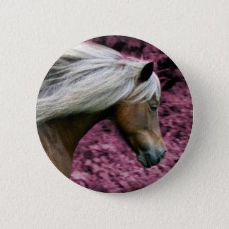 Rosa Pony 2 Runder Button 5,1 Cm