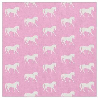 Rosa Pony-Gewebe, hübsches Pferdegewebe Stoff