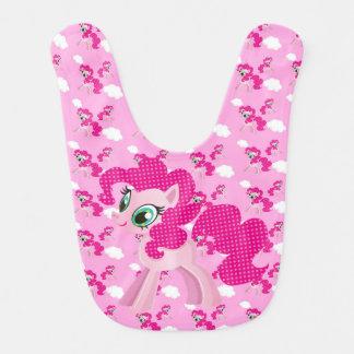 Rosa Pony-Schellfisch Babylätzchen