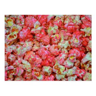 Rosa Popcorn Postkarte