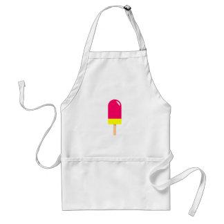 Rosa Popsicle-Zeichnen Schürze