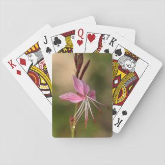 Rosa prahlende Wand-Blume Spielkarten