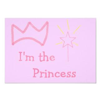 Rosa Prinzessin 12,7 X 17,8 Cm Einladungskarte