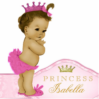 Rosa Prinzessin Babyparty Freistehende Fotoskulptur