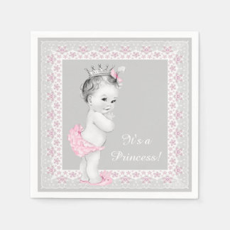 Rosa Prinzessin Babyparty Papierserviette