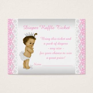 Rosa Prinzessin Diaper Raffle Ticket