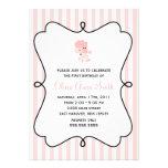 Rosa Pudel in Paris-Geburtstag Individuelle Einladungskarte