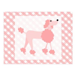 Rosa Pudel Postkarte
