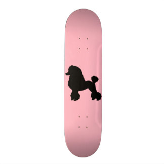 Rosa Pudel-Rockinspirierter Skateboard Personalisierte Skateboarddecks