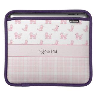 Rosa Pudel u. rosa Karos iPad Sleeve