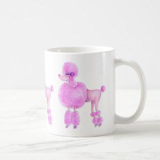 Rosa Pudelhundehündchen-Tasse Kaffeetasse