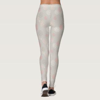 Rosa Puffball-Gamaschen Leggings