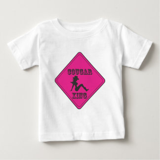 Rosa Puma-Überfahrt-Cowgirl Baby T-shirt