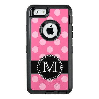 Rosa Punkt, personalisierter, mit Monogramm OtterBox iPhone 6/6s Hülle
