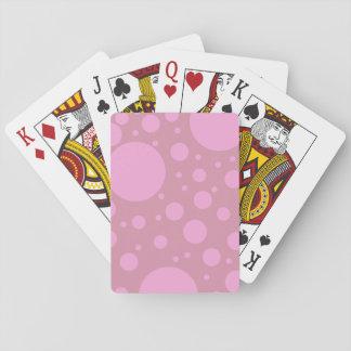 Rosa punktiert klassische Spielkarten