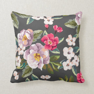 Rosa PurpleVintage BlumenWurfs-Kissen Kissen