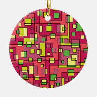 Rosa Quadrathintergrund Keramik Ornament