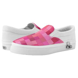 Rosa quadratisches Mosaik Slip-On Sneaker