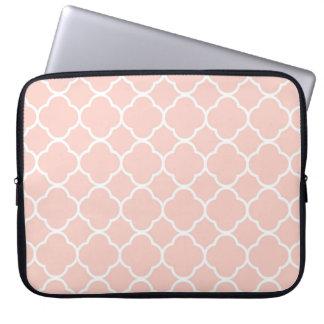 Rosa Quatrefoil marokkanische Druck-Laptop-Hülse Laptop Sleeve