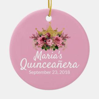 Rosa Quinceañera Andenken-Verzierung Keramik Ornament
