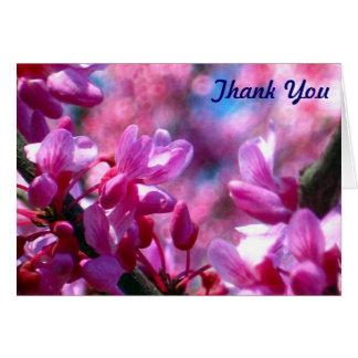 Rosa Redbud Blüten-Schläger Mitzvah danken Ihnen Karte