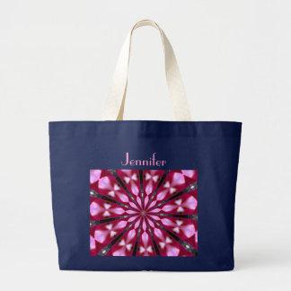 Rosa Redbud Medaillon-Tasche Jumbo Stoffbeutel