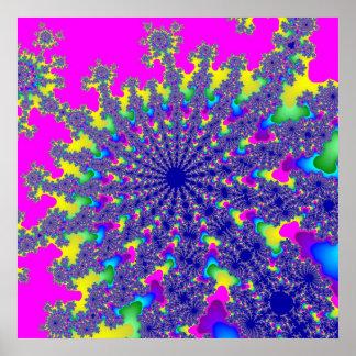 Rosa Regenbogen-Explosions-Plakat Poster