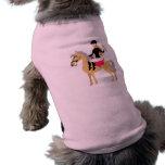 Rosa Reitermädchen Haustier T-shirt