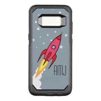 Rosa Retro Rocketship personalisierte OtterBox Commuter Samsung Galaxy S8 Hülle