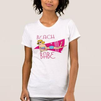 Rosa Retro Strand-Baby T-Shirt