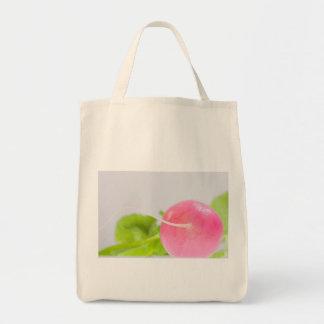 Rosa Rettich mit Blätter Tragetasche