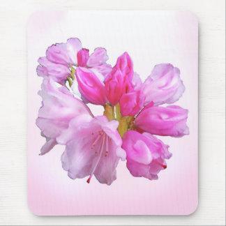 Rosa Rhododendron-Garten-Blumen-Blüten Mousepad
