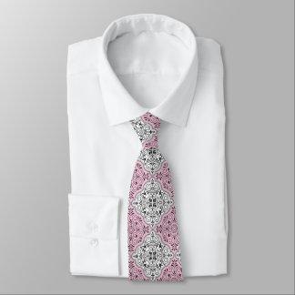 Rosa Rokoko-Muster blühen Krawatte